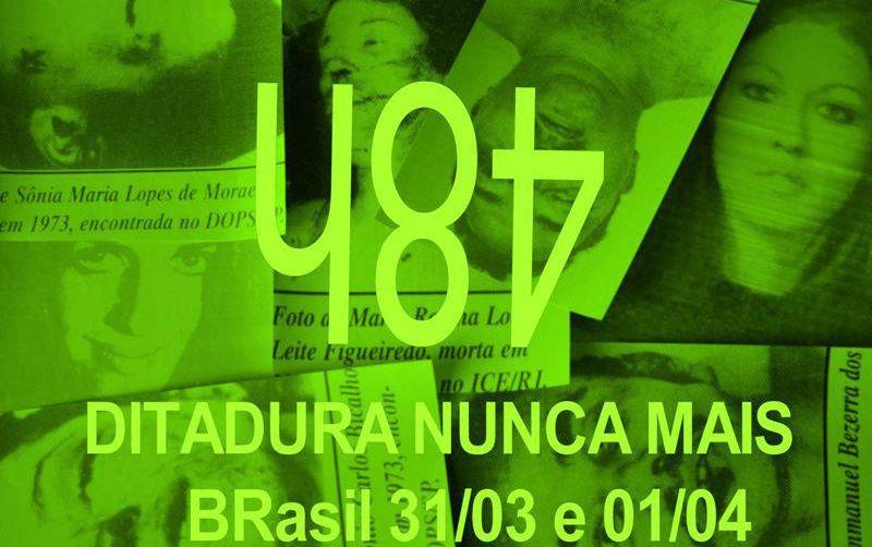 Foto Arte-ação 48h Ditadura Nunca Mais