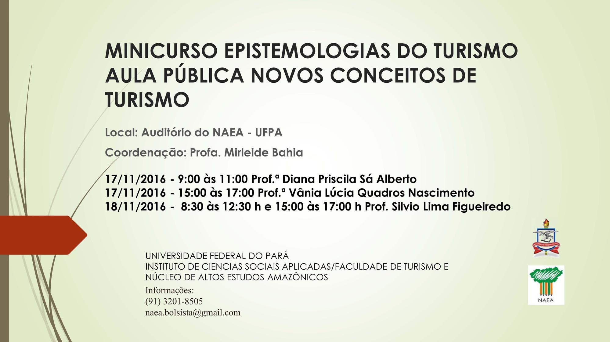 Foto Minicurso: Epistemologias do Turismo