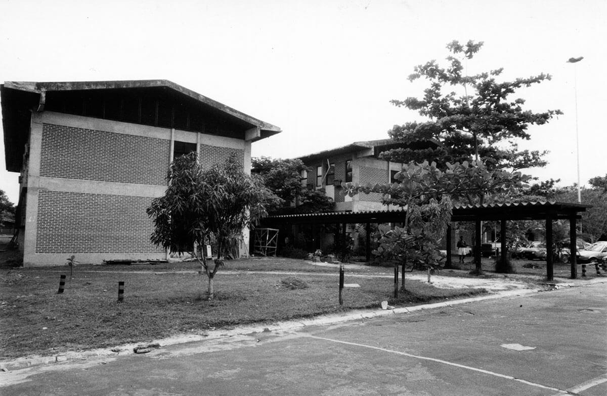 Foto Entrada do NAEA na década de 1970