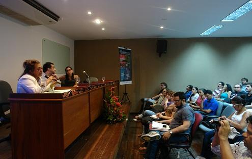 Foto Edna Castro (NAEA), André Botelho (UFRJ) e Lilia Schwarcz (USP) - Seminário  Agenda Brasileira temas fundamentais para a sociedade (2014)