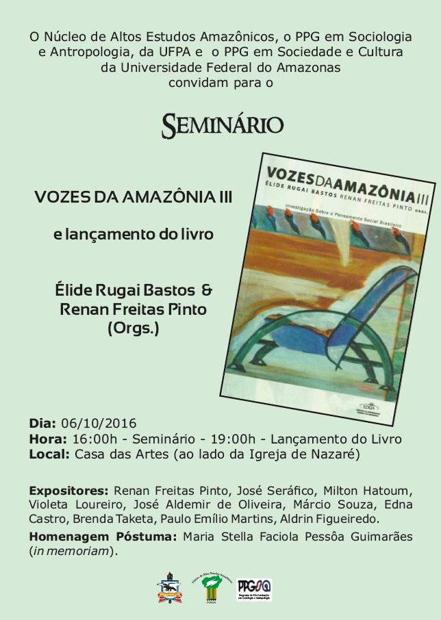 Foto Seminário Vozes da Amazônia e lançamento de livro