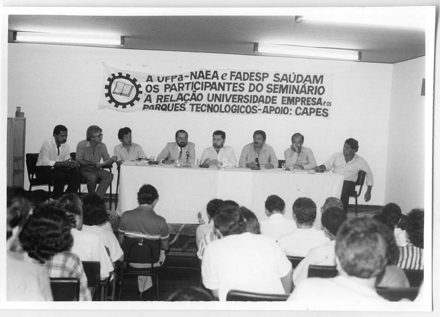 Foto Seminário A Relação Universidade empresa e os parques tecnológicos (15 e 16/09/1988)