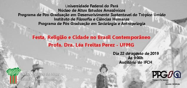 Palestra: 'Festa, Religião e Cidade no Brasil Contemporâneo'